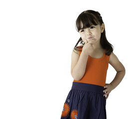 Young girl thinking about future