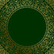 Vector oriental ornament on green background