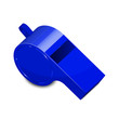 Vector illustration of blue whistle