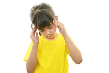 頭痛の女の子
