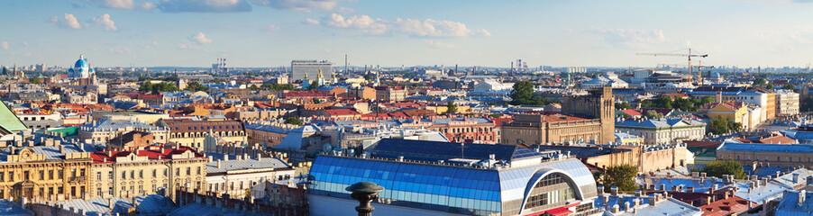 Top view of  St. Petersburg, Russia