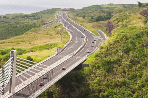 pont à haubans, route des Tamarins, Réunion