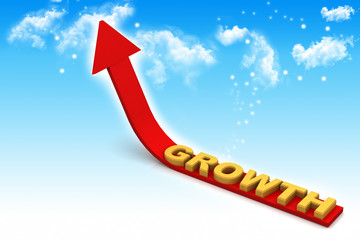 Arrow growth. Business  growth concept