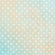 Retro Background Big Dots Turquoise/Beige