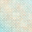Retro Background Dots Pattern Turquoise/Beige