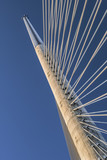 Belgrade's Suspension Bridge Over Ada Pylon - Detail