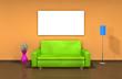Sofa - Freiraum - Wandbild (III)
