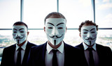 Anonymous businessmen