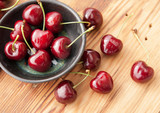 Sweet red cherries