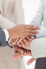 Business colleauges hands together