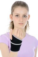 Teenager mit Bandage