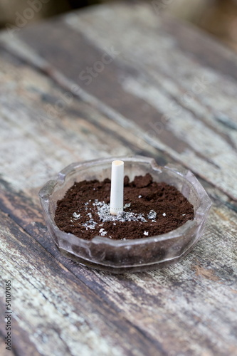 Coffee ground ashtray