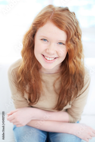 Cute red-haired