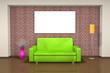 3D - Sofa - Freiraum - Wandbild (II)