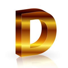 d  アルファベット 金