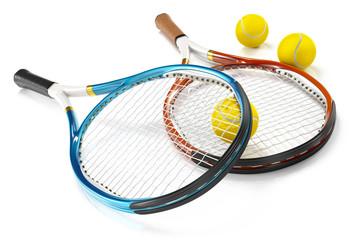 Tennis Rackets with Tennis Balls