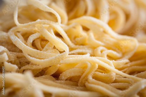 Homemade traditional italian uncooked pasta