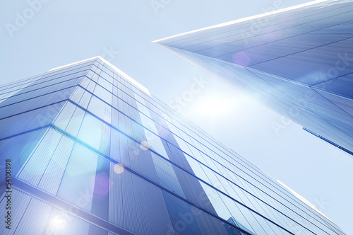 bright skyscrapers