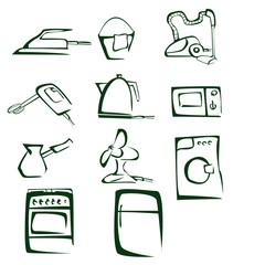 cartoon illustration of house equipment
