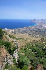 Costa della sicilia dall'alto