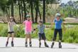 Familien-Skaten