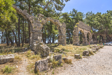 Ruins of the ancient town at Phaselis.