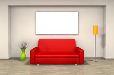 Sofa - Freiraum - Wandbild (I)