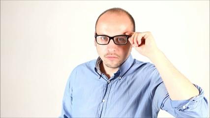 geschäftsmann brille