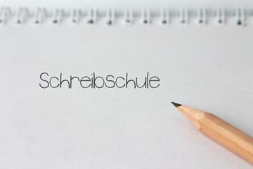 """Notiz """"Schreibschule"""""""
