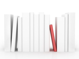 Concept with red book isolated on white