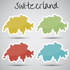 stickers in form of Switzerland