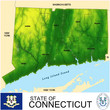 Connecticut USA counties name location map background
