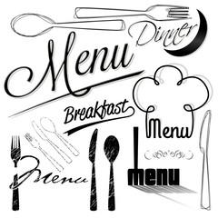 vector menu design elements