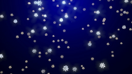 Winter snow fall - Christmas background