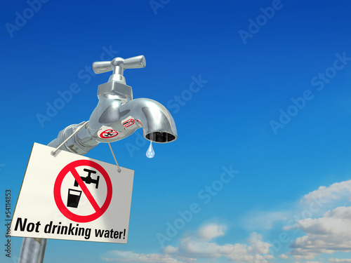 Not drinking water!