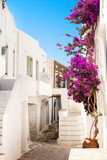 Traditional greek alley on Sifnos island, Greece