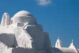 Fototapety famous church paraportiani on  Mykonos island , Greece