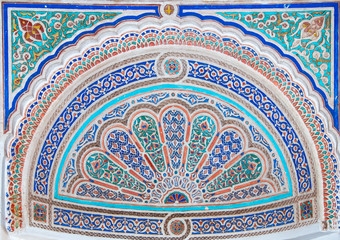Ceramic mosaic in Marrakesh. Marocco