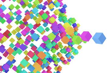 カラフルなブロックの背景素材