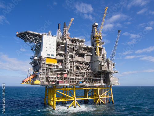 canvas print picture Offshore platform