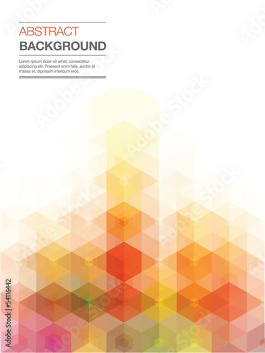 Red and orange abstract  geometric background