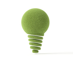 light bulb with green grass