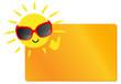 Sonne mit Schild