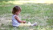 Child on the grass