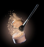 Make-up powder isolated on black background