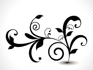 abstract black floral background