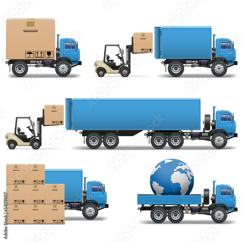 Vector shipment icons set 2