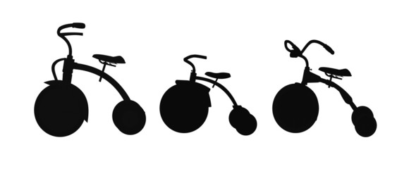 tri cycle silhouettes