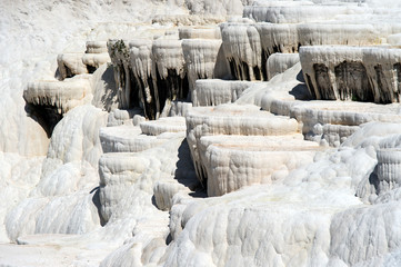 Pamukkale on a Clear Sunny Day