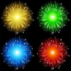 Color fireworks